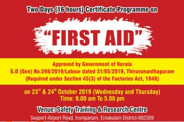 Two Days (16 hours) Certificate Programme on  FIRST AID