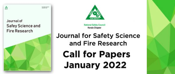 Journal for Safety Science and Fire Research – Call for Papers- January 2022